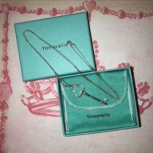 Tiffany & Co Antique Key Pendant Necklace
